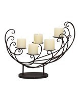 Adeco Decorative Iron Pillar Candle Holder (Holds 5 Pillar Candles) - ₨2,665.89 INR