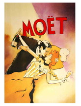 Moet Vintage Champagne 13 x 10 inch Advertising Giclee CANVAS Print - $19.95