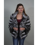 Chinchilla Fur Coat Women's Handmade Finest Genuine Chinchilla Skins - $4,400.00
