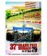 Monaco Vintage (1979) Grand Prix Auto Racing 13 x 10 in Giclee CANVAS Adv Print - $19.95