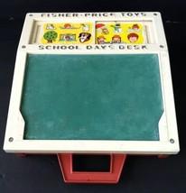 Vintage Fisher Price School Days Desk Chalk Board 1972 ABC 176 - $24.19