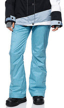 Roxy Nadia Pants Womens Snowboard 10k Waterproof Thinsulate Blue Textile XS - $99.05