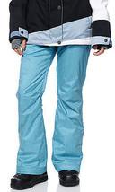 Roxy Nadia Pants Womens Snowboard 10k Waterproof Thinsulate Blue Textile XS - $99.05