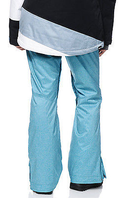 Roxy Nadia Pants Womens Snowboard 10k Waterproof Thinsulate Blue Textile XS