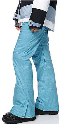 Roxy Nadia Pants Womens Snowboard 10k Waterproof Thinsulate Blue Textile XS