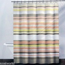 "DKNY ""CROSBY STRIPE""1PC SHOWER CURTAIN PALE SORBET FABRIC 72x72 ~bnip~ - $40.18"