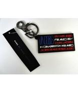 MARC JACOBS Red White Blue USA Flag Rubber Black Logo Key Chain New Keyloop - $24.75
