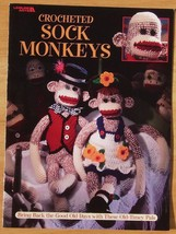 Leisure Arts Crocheted Sock Monkeys - Good Old Days - Old-Timey Pals - $4.90