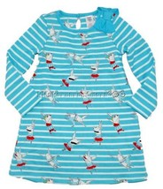 Gymboree Olivia the Pig 4T Dress Holiday Blue Striped Pig Pattern w/Bow - $20.48