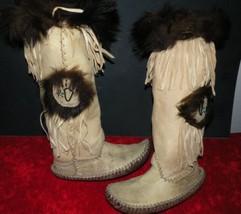 """Vintage~Handmade Indian Beaded 15"""" Elk/Deer Lea... - $599.00"""