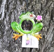 Frog Tin Metallic Windchime Suncatcher w/ Beads - $5.95