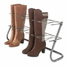 NEW 4 Pair Shoe Storage Rack Boots Rain Tall Boot Organizer Stand Metal ... - $39.50