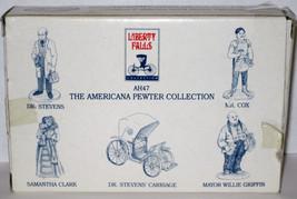 5 Pewter Figures AH47 MIB 1994 LIBERTY FALLS Dr Stevens Carriage Cox Cla... - $14.85