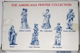 6 Pewter Figures AH31 MIB 1993 LIBERTY FALLS Miner Louden Applegate Snak... - $14.85