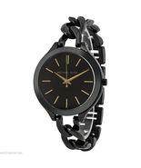 Michael Kors MK3317 Black Slim Runway Women's Watch - $98.08