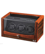 Volta Automatic Triple Watch Winder Box Ebony/Rosewood 31-560032 - $584.84