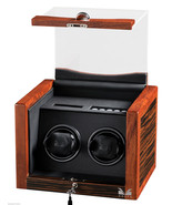 Volta Automatic Double Watch Winder Box Ebony Rosewood 31-560022 - $500.69