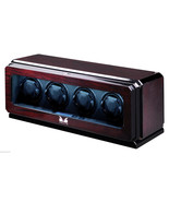 Volta Automatic Quad 4 Watch Winder Box Rosewood 31-570042 - $1,005.59