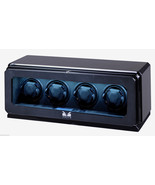 Volta Automatic Quad 4 Watch Winder Box Carbon Fiber 31-570042 - $1,005.59