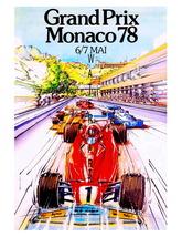 Monaco Vintage (1978)13 x 10 inch Grand Prix Au... - $19.95