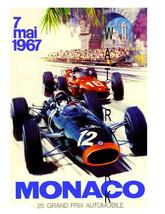 Monaco Vintage (1967) Grand Prix Auto Racing 13... - $19.95
