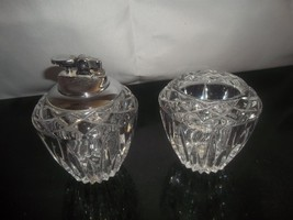 Vintage, Princess House Crystal table lighter and match and cigarette holder - $59.39