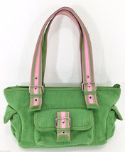The Sak Kelly Green w Pink Accents Shoulder Bag Handbag Purse - $29.03