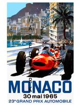 Monaco Vintage (1965a) Grand Prix Auto Racing 1... - $19.95