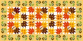 "Latch Hook Pattern Chart: READICUT #439 Maple Patchwork 27"" x 54"" - EMAIL2u - $6.95"