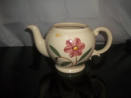 Vintage Shawnee Teapot Cream Color With Pink Flower On Sides  No Lid - $12.86