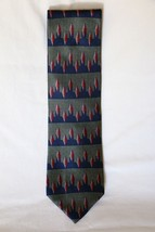 NEW Men's Neck Tie VAN HEUSEN NWT 100% Silk Olive Color Ties Accessories... - $7.70