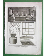 NAILS Needle Making View of Shop Tools - 1783 Antique Print - $13.77