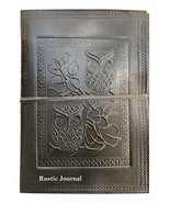 Embossed Leather Owl Journal Bound Diary Planner Antique Notebook with U... - $29.89