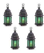 Green glass moroccan lantern thumbtall