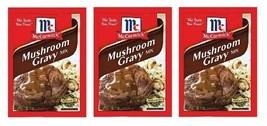 McCormick Mushroom Gravy Mix 3 Packet Pack - $9.55