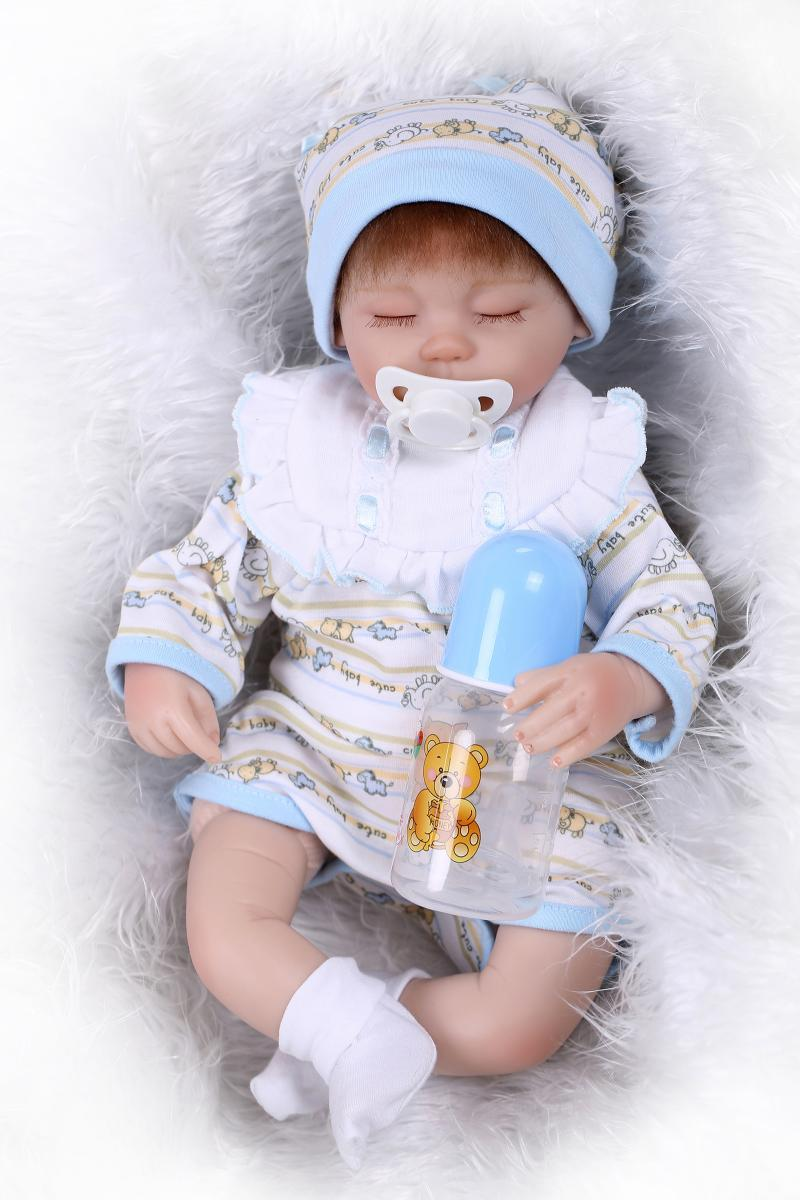 Toys For Baby Dolls : Quot soft silicone reborn baby alive doll lifelike sleeping