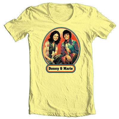 Donny & Marie T shirt Osmond 70's retro pop culture funny cotton 80's tee