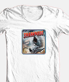 Sharknado T shirt b-movie sci fi horror film 100% cotton graphic printed tee