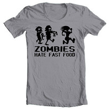 Zombies Hate Fast Food T shirt Walking Dead funny runner 100% cotton graphic tee image 1