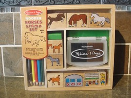 New Melissa & Doug Wooden Horses Stamp Set #2410 - $13.36