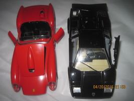 BURAGO Black Lamborghini & Red Ferrari Diecast ... - $65.00
