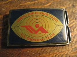 USA 1984 Olympic Belt Buckle - Los Angeles Olympics Games Rifle Shooting... - $39.59