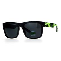 Unisex Fashion Sunglasses Square Rectangle Matte Frame Digital Pixel Print - $9.95