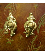 Vintage English Police BULLDOG Cufflinks Sculpted gold plated Canine Tie... - $155.00