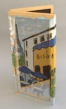 Bistro Jewelry Cabinet Hand Painted Earring Necklace Holder Organizer Ha... - $110.00