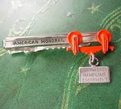 American Monorail Tie Clip Vintage Engineered Handling Equipment Designe... - $145.00