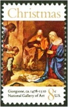 1971 8c Christmas, Adoration, National Gallery of Art Scott 1444 Mint F/... - $0.99