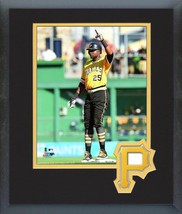 Gregory Polanco 2016 Pittsburgh Pirates-11 x 14 Team Logo Matted/Framed Photo - $42.95
