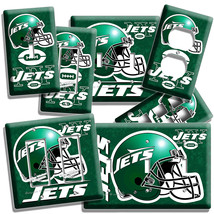 NY NEW YORK JETS FOOTBALL TEAM LIGHT SWITCH OUTLET WALL PLATE COVER BOYS... - $8.99+