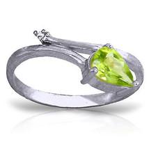 0.83 ct Platinum Plated 925 Sterling Silver Snake Charm Peridot Diamond Ring - $79.95